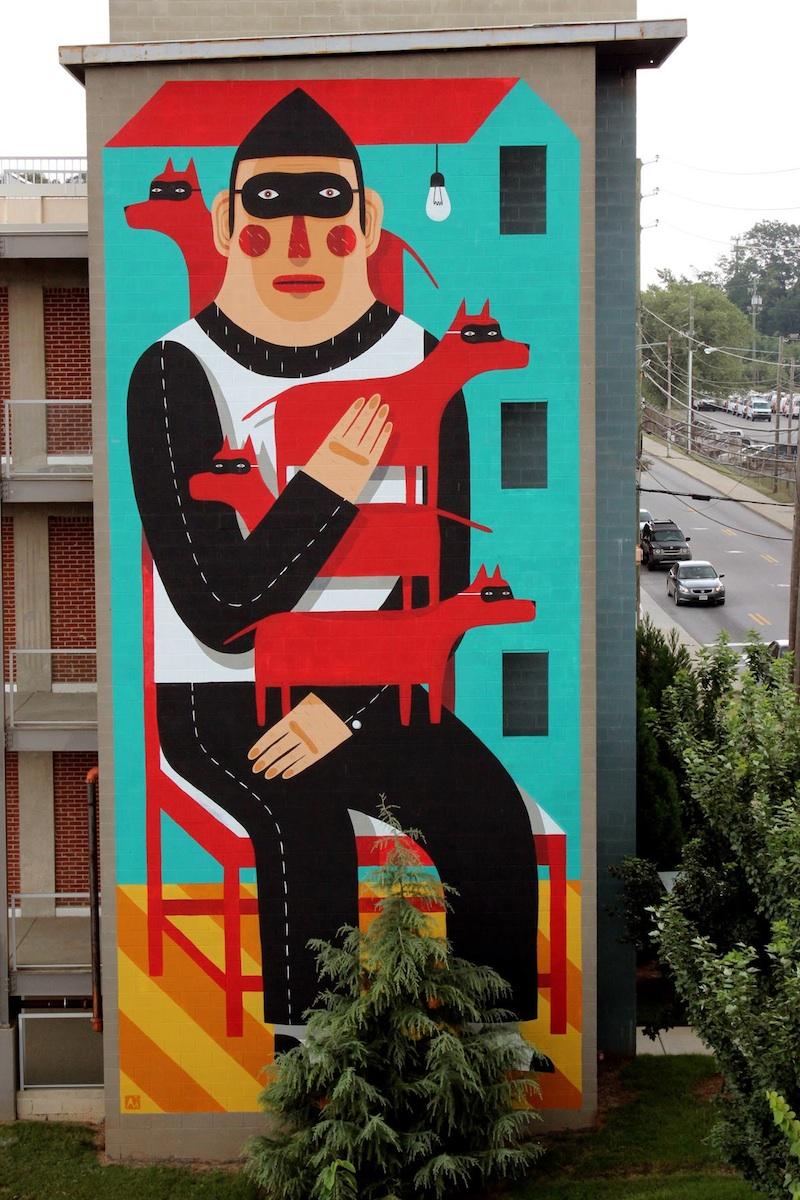 Agostino living walls atlanta unurth street art for Atlanta mural artist