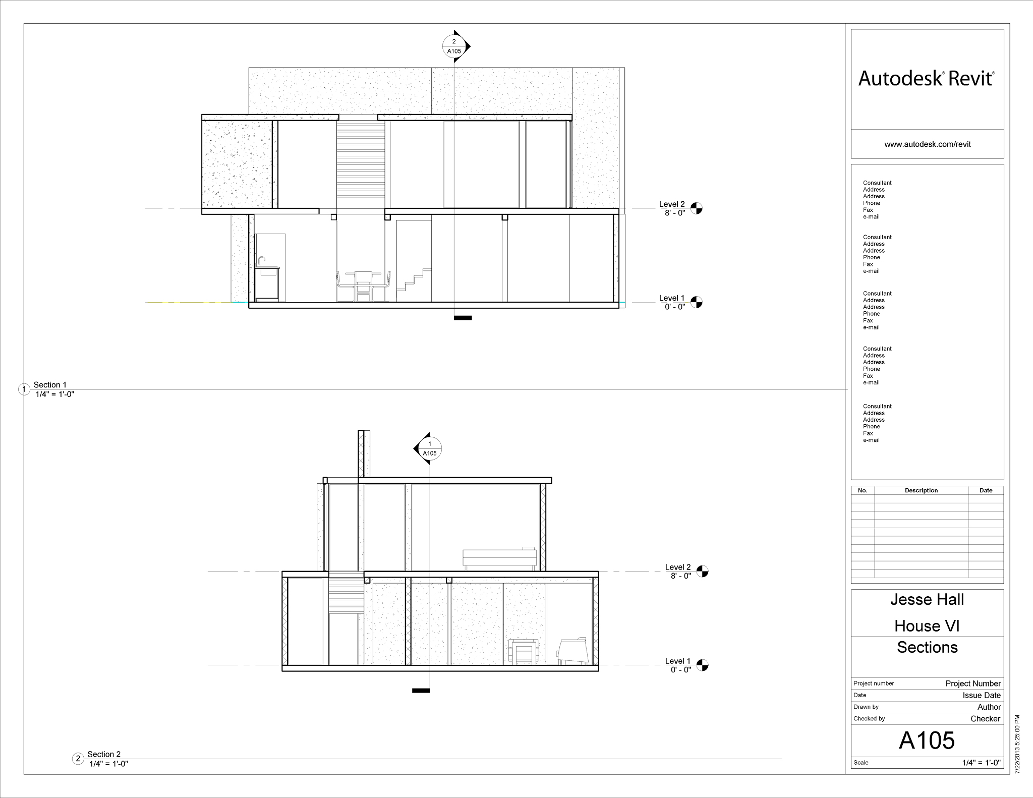 Revit // Eisenman House VI - Portfolio